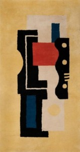 "A typical Fernand Leger ""tapis"" by Marie Cuttoli"